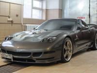 Chevrolet Corvette 2001 г. Тюнинг салона в Клину. Алькантара + кожа 01