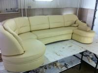 Перетяжка дивана кожей 01
